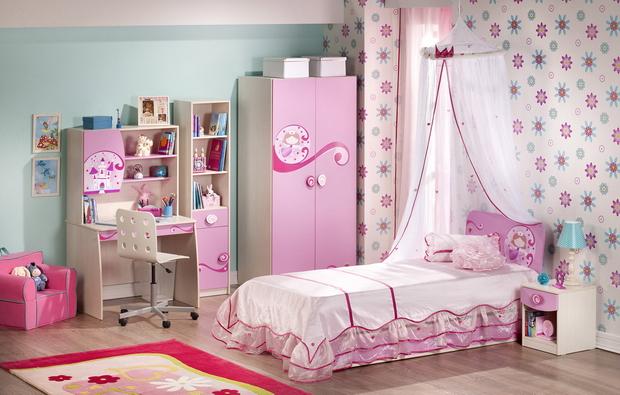 Мебель детской комнаты для девочки