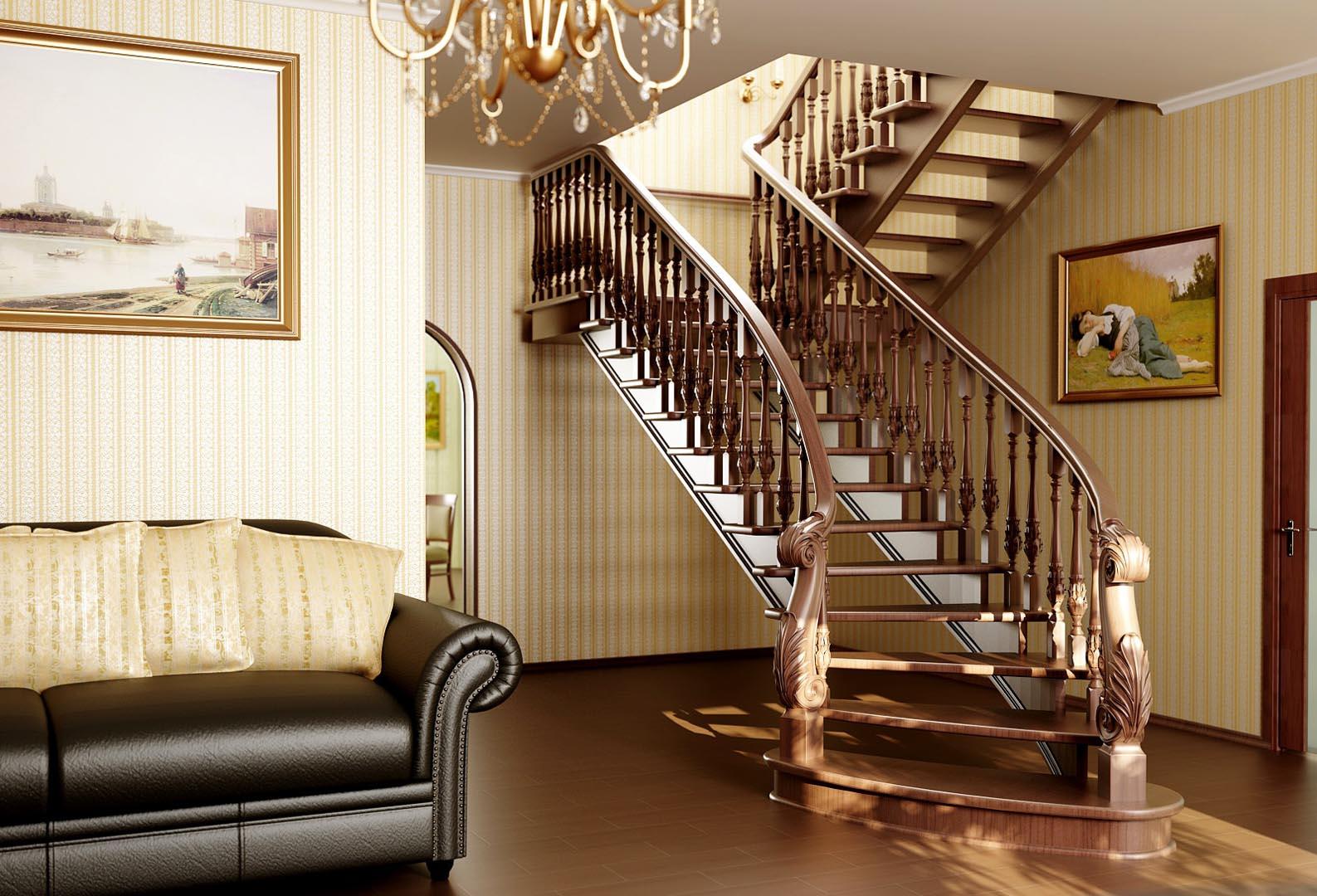 Красивые ступени для лестницы из сосны