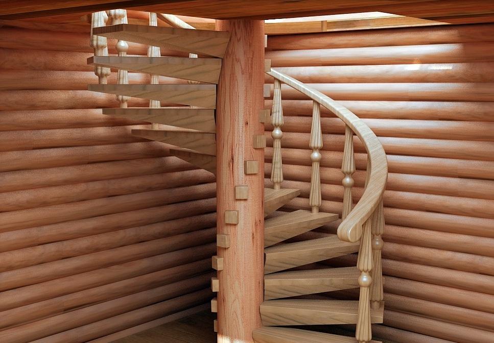 Лестницы винтовые на второй своими руками этаж фото