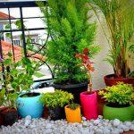 40 Как украсить балкон цветами