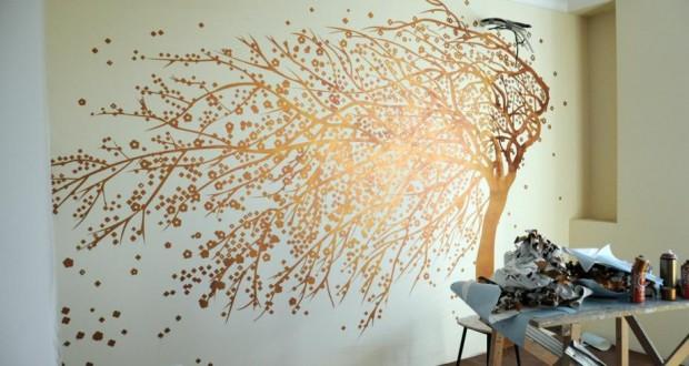 Декоративная роспись стен своими руками