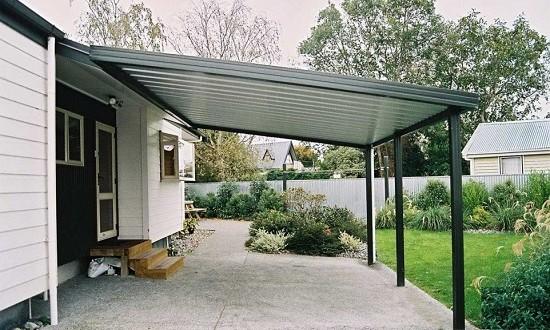 103 Как сделать навесной гараж своими руками?