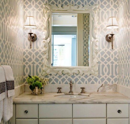 233 Обои в ванной комнате - как поклеить правильно?