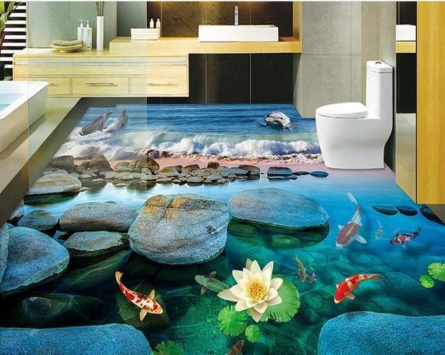 291 3d полы в ванной - фантазия или реальность