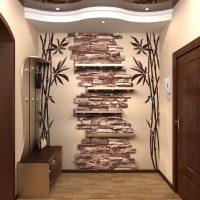 571 Оформление стен декоративным камнем