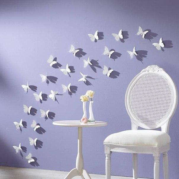Бабочки для декора своими руками
