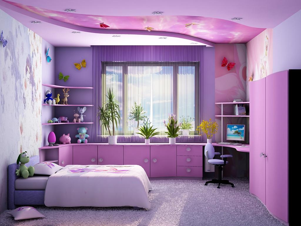 Интерьеры детских комнат для девочек