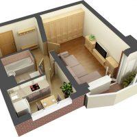 599 Дизайн квартиры 40 кв м