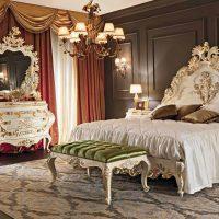 603 Интерьер спальни в стиле барокко