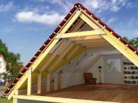 653 Устройство мансардной крыши деревянного дома
