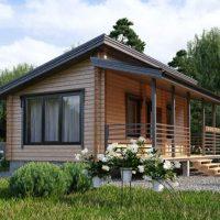 661 Дом с односкатной крышей одноэтажный