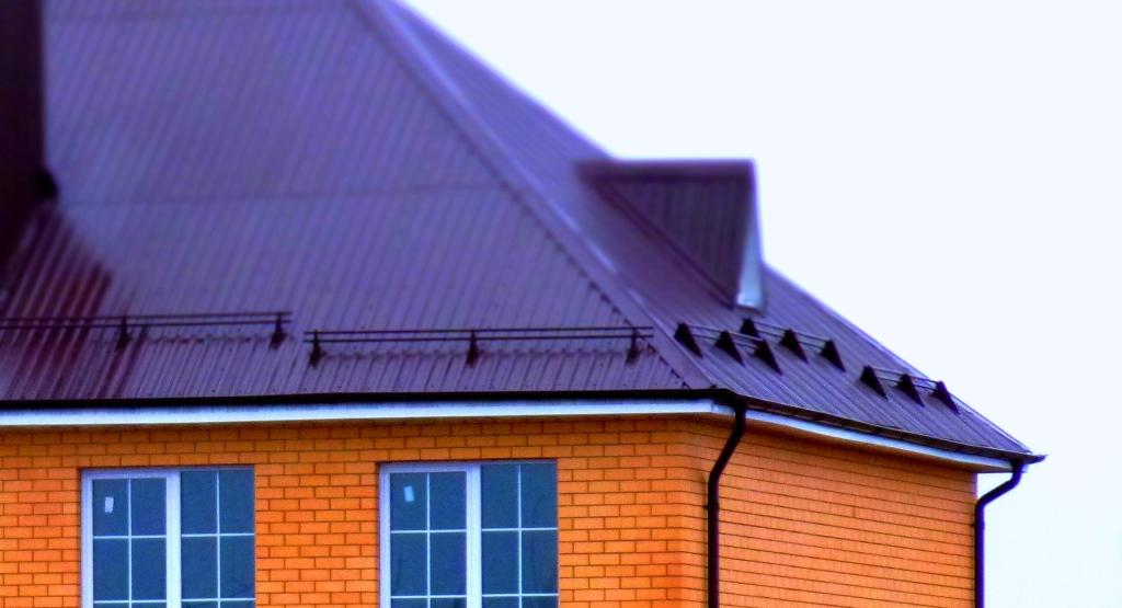 Снегозадержание на крыше из профнастила