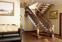 682 Красивые ступени для лестницы из сосны