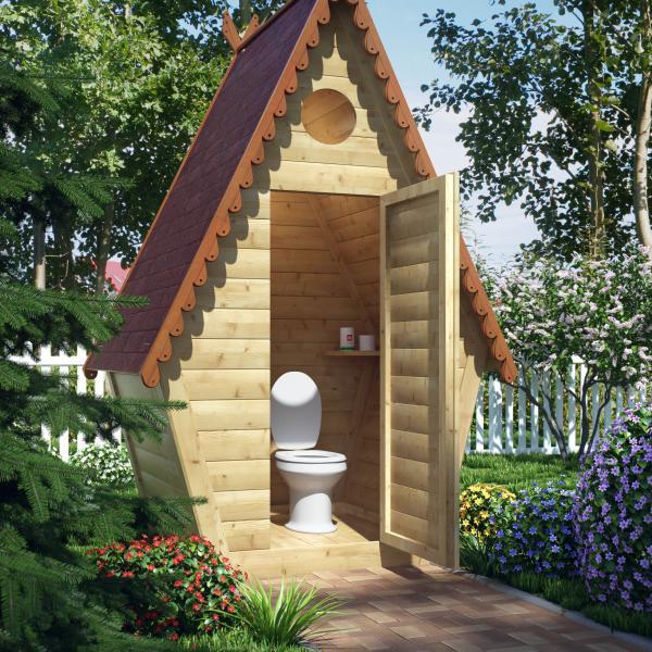 1256 Чертежи дачных туалетов: строим туалет своими руками