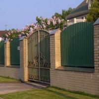 1285 Забор из кирпича своими руками