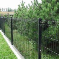 1310 Как сделать секционный металлический забор из сварной сетки