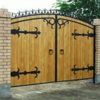 1386 Дачные ворота своими руками