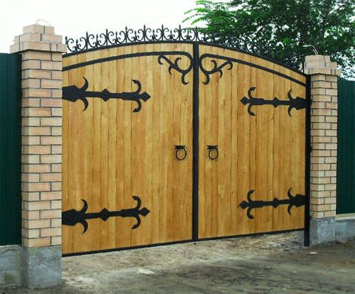 Дачные ворота своими руками