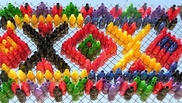Делаем забор из пластиковых бутылок своими руками