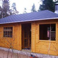 1477 Проект и строительство гостевого дома с баней своими руками