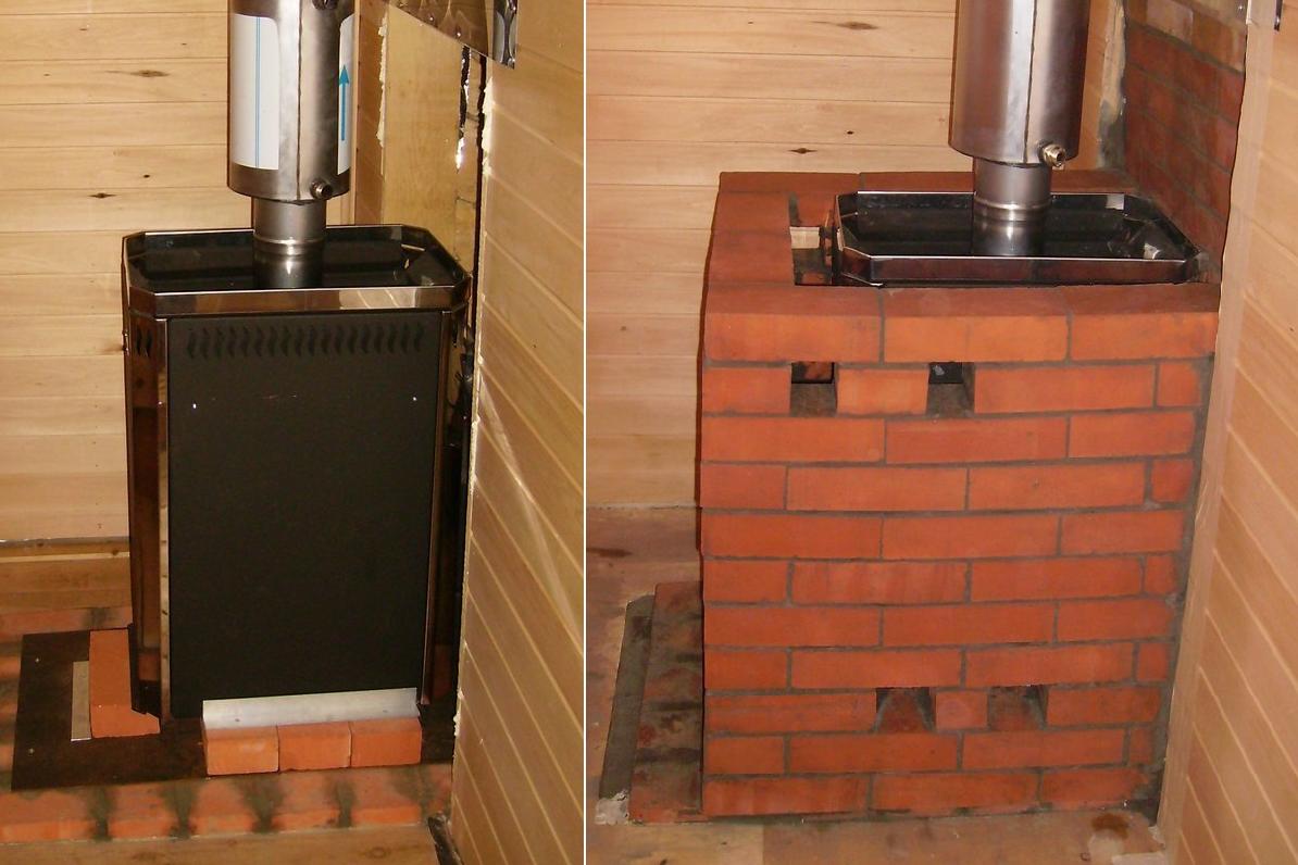 Как обложить металлическую печь кирпичом — пошаговая инструкция