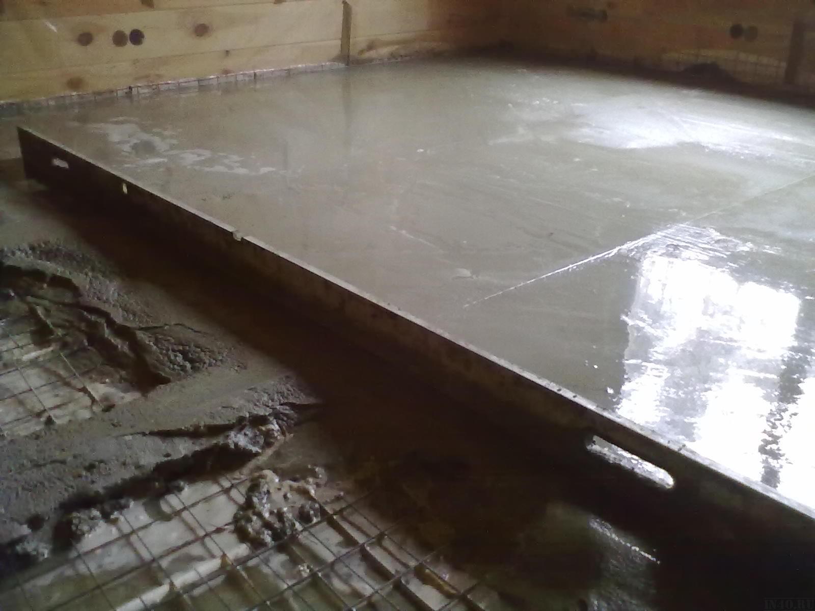Заливка пола бетоном — технология заливки пола