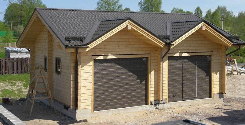 Строительство гаража из бруса своими руками
