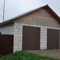 1659 Строительство гаража из пеноблоков своими руками
