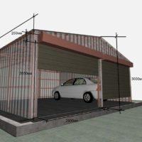 1664 Металлический гараж для автомобиля своими руками