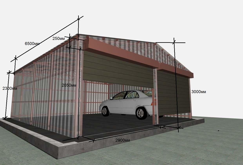 Металлический гараж для автомобиля своими руками