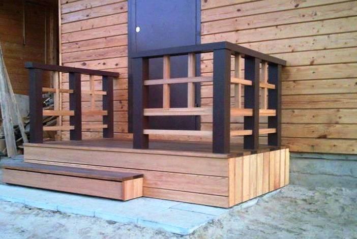 Крыльцо деревянного дома своими руками