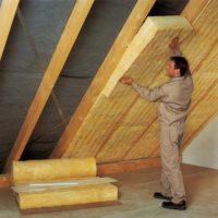 2147 Утепление потолка минеральной ватой (минватой) — пошаговая инструкция