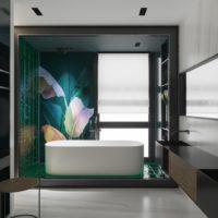 7742 Обновленная ванная комната: камень снаружи и внутри