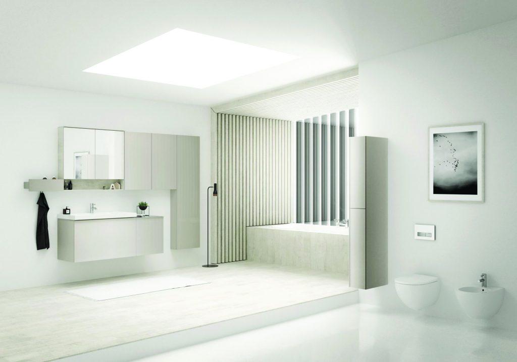 10443 Ванная, где всё под рукой. Оптимальный комфорт в ванной обеспечит коллекция мебели и керамики Keramag Acanto