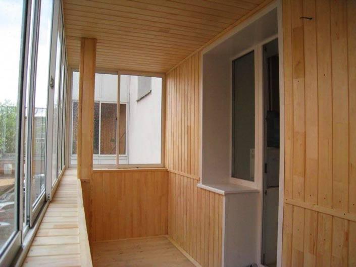 16642 Внутренняя отделка балкона блок хаусом