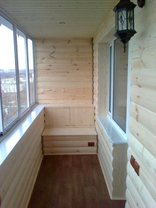 Внутренняя отделка балкона блок хаусом