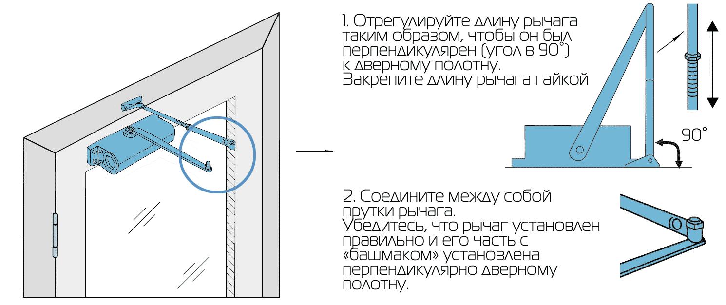 Как установить доводчик на дверь — правила и видео