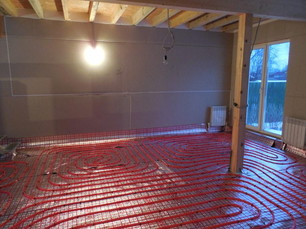 Водяной теплый пол в доме своими руками, инструкция и видео по монтажу