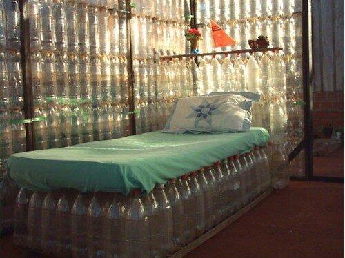 Беседка из пластиковых бутылок своими руками