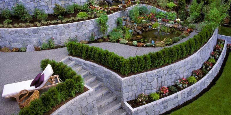 Ландшафтный дизайн дачного участка на склоне