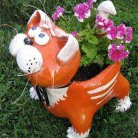 29726 Клумба для цветов в форме кота