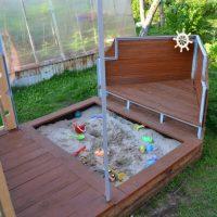 29758 Детская песочница для дачи своими руками — пошаговая технология