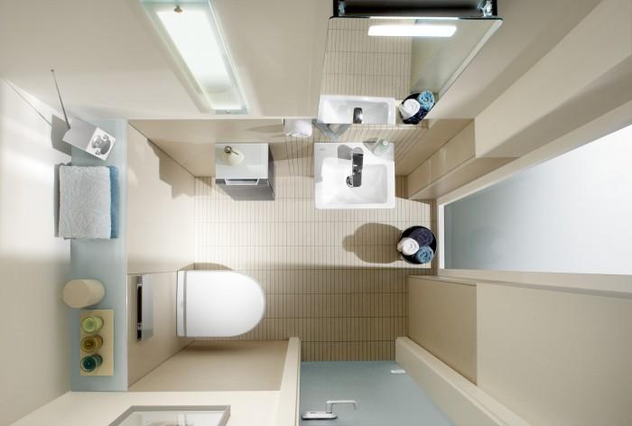 29972 Визуальное увеличение пространства ванной комнаты
