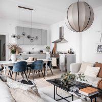 30039 Уютный и простой интерьер кухни