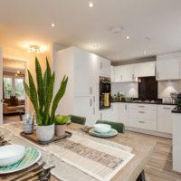 30076 Интерьер кухни столовой в частном доме