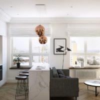 30074 Интерьер квартир в белом цвете