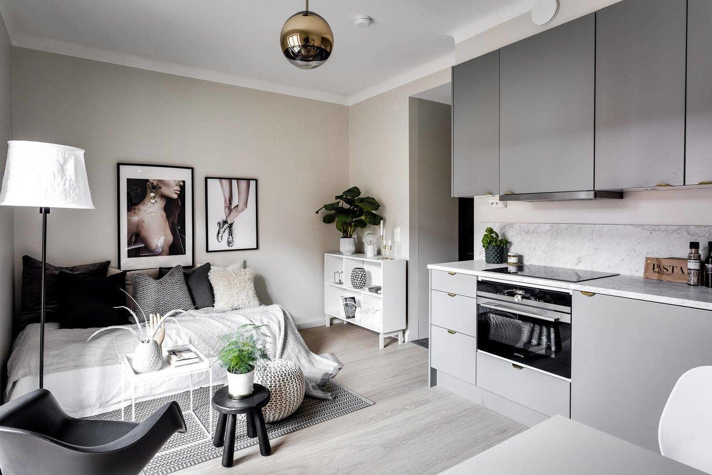 30078 Дизайн квартиры студии 24 кв м: как создать шедевр