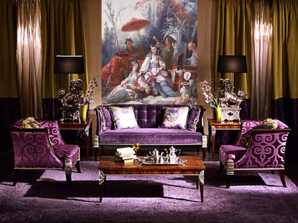 Оформление интерьера гостиной в стиле арт-деко