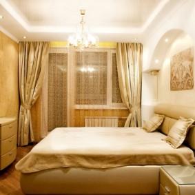 Спальня в брежневке классического стиля