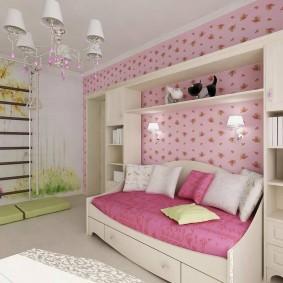 Розовый цвет в дизайне детской комнаты